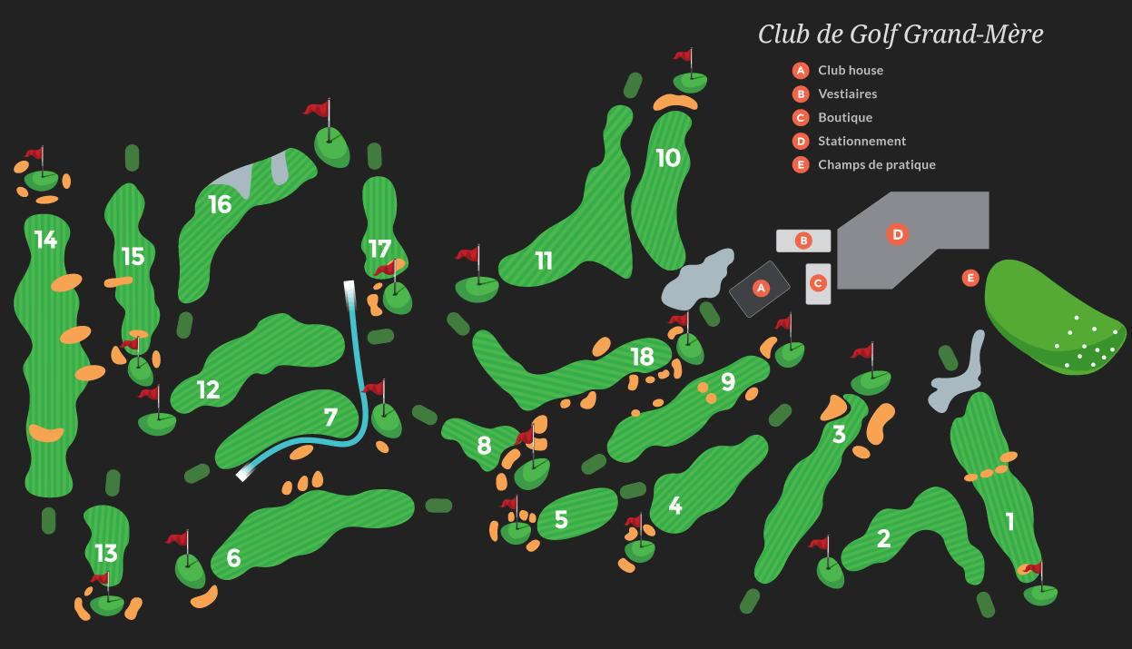 Parcours Club de Golf Grand-Mère