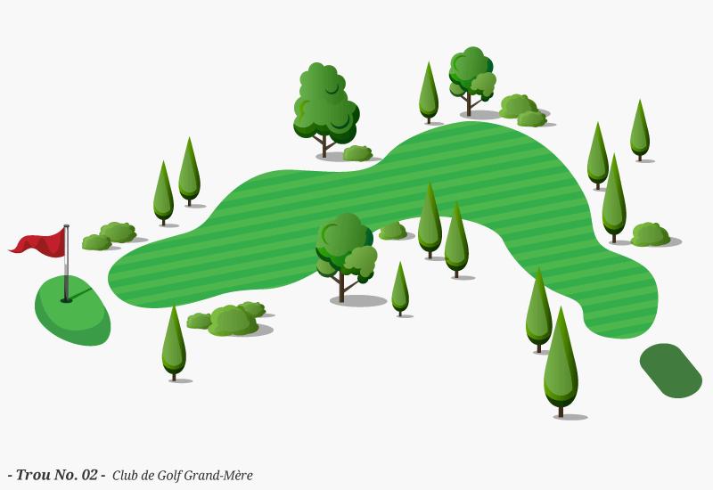 Golf Grand-Mère - Trou No. 02