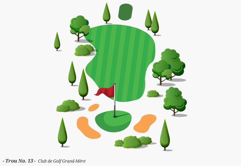 Golf Grand-Mère - Trou No. 13