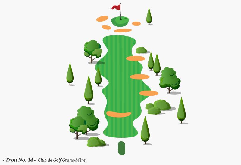 Golf Grand-Mère - Trou No. 14